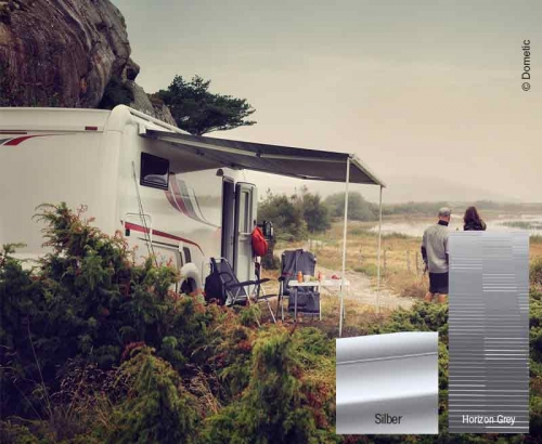 Купить онлайн Тент PW1500 3,0м корпус серебристый / сукно Horizon серый, мотор 12В
