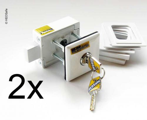 Купить онлайн Дополнительный замок VAN Security набор из 2-х белых, под ключ