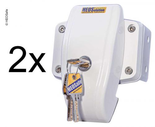 Купить онлайн Дверной замок HEOSafe комплект 2 белый
