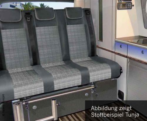 Купить онлайн Спальная скамья Merc.Vito LR 2015 V3000 размер 17 3-х местная Pols. Классика 2 цвета, с подогревом.