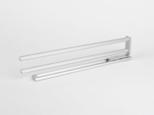 Купить онлайн Выдвижная вешалка для полотенец - 2 алюминиевых стержня