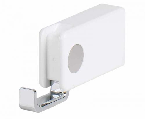 Купить онлайн Крюк одинарный, складной, 8 х 4,3 см, белый