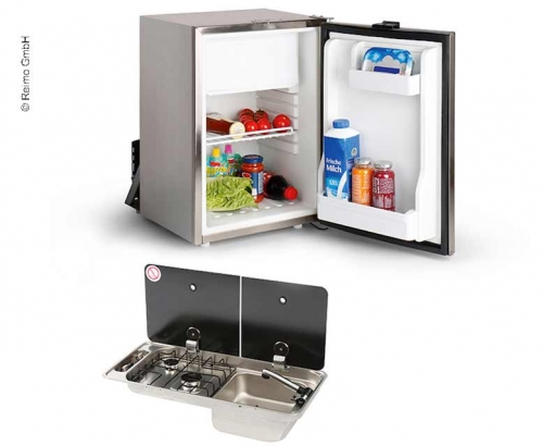 Купить онлайн Набор удлинителей для автофургонов 40 K - комбинированная мойка и встроенный холодильник