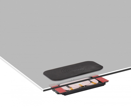 Купить онлайн Черный индуктивный зарядный блок с противоскользящей прокладкой и оптоволоконным комплектом