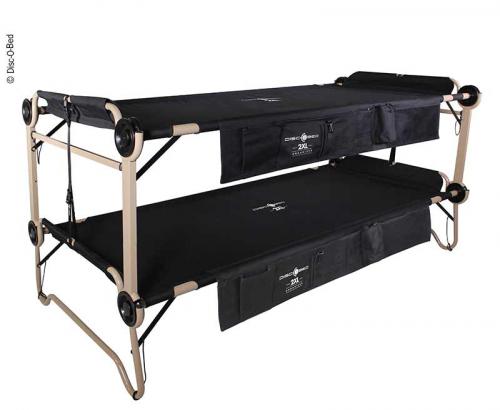 Купить онлайн Двухъярусная кровать Disc-O-Bed 2XL черная с боковыми карманами