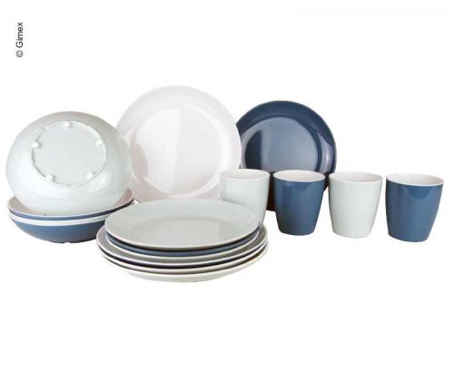 Купить онлайн Набор меламиновой посуды LAVENDEL, 16 штук, нескользящий
