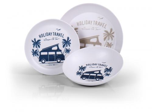 Купить онлайн Меламиновая посуда 'HOLIDAY TRAVEL' 6 штук, для 2 человек