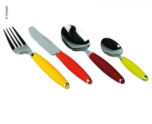 Купить онлайн Кемпинг столовые приборы Радуга, 16 штук, нерж.сталь