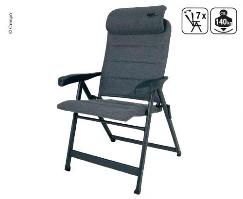 Купить онлайн Кемпинг раскладное кресло с подголовником, серый, водоотталкивающий