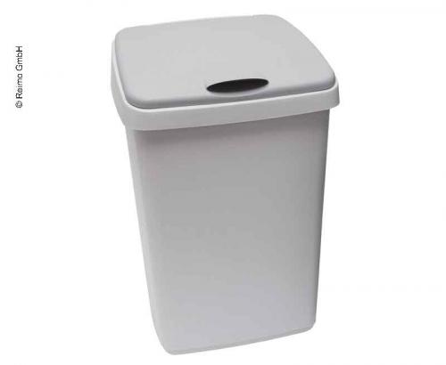 Купить онлайн Крышка с откидной крышкой, 10 литров, серая, 25x22x33 см