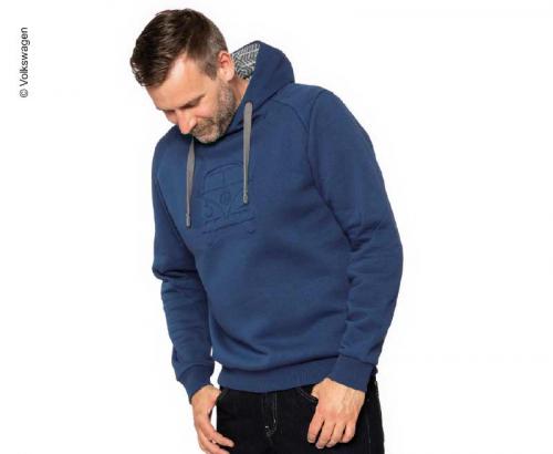 Купить онлайн Свитер с капюшоном VW Bulli, размер XXL темно-синий, 65% хлопок / 35% полиэстер