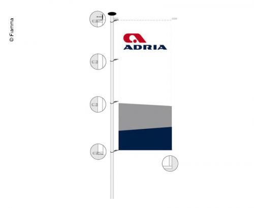Купить онлайн Адриатический флаг 1 х 2,5 м сезон 2018-2020
