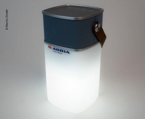 Купить онлайн Bluetooth-динамик Adria, включая Powerbank + свет