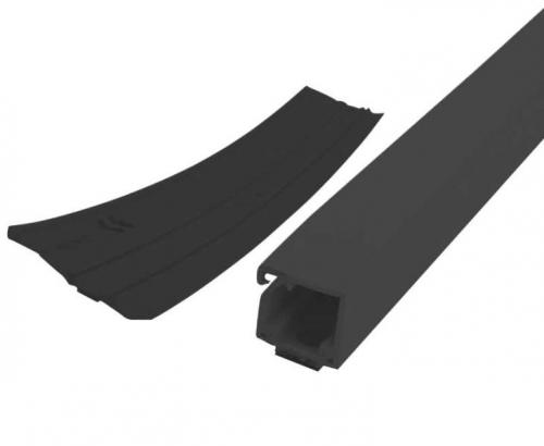 Купить онлайн Кабельный канал 20м-рулон черный с двухсторонней клейкой лентой