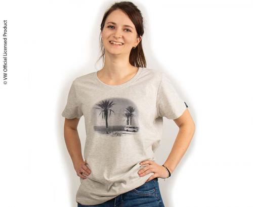 Купить онлайн Женская футболка, цвет светло-серый меланж