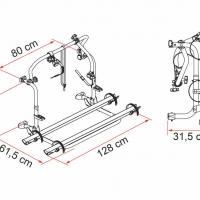 Купить онлайн Алюминиевый задний багажник Carry-Bike L80 для 2 велосипедов