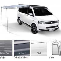 Купить онлайн PW1100 2,6 м, комплект VW T5 / 6, LHD + RHD, корпус: белый, ткань: Horizon Grey