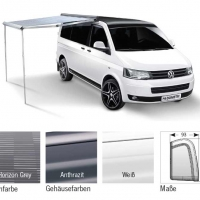 Купить онлайн PW1100 2,6 м, комплект RenaultTrafic, Vivaro, NV300 корпус: пыльник, ткань: Horizon Grey
