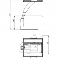 Купить онлайн Складная ножка фургона, высота 600 мм, анодированный алюминий