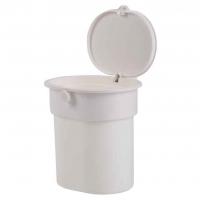 Купить онлайн Мусорный бак с присоской, белый, до 3 кг, кнопка