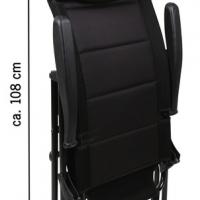 Купить онлайн Стул для кемпинга MALAGA MESH, 4-позиционный, черный, 3D-сетка