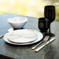 Купить онлайн Меламин столовый набор MARBLE 6 штук, для 2 человек