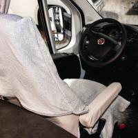 Купить онлайн Махровый чехол для универсального светло-серого автомобильного сиденья