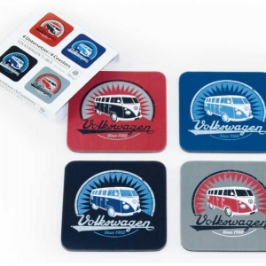 Купить онлайн VW Collection Coasters, Набор из 4,